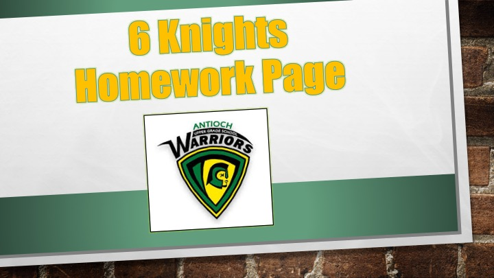 6th Grade Knights Team Page