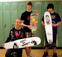 Some lucky students designed Bustin Boards skateboards