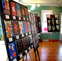 Panel display at the community art show,